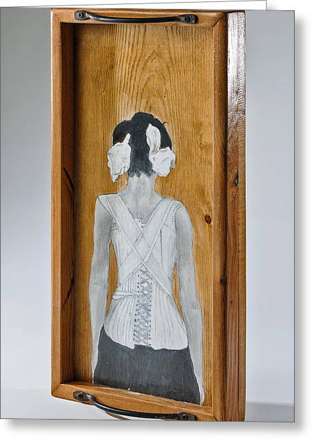 The Corset Greeting Card by Susan McCarrell