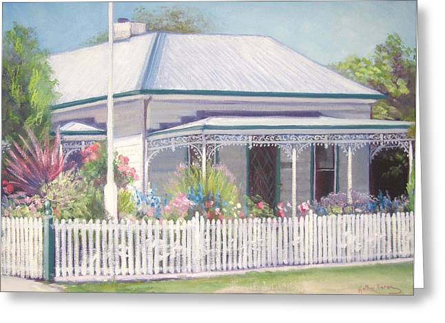 The Cottage Greeting Card by Kathy  Karas