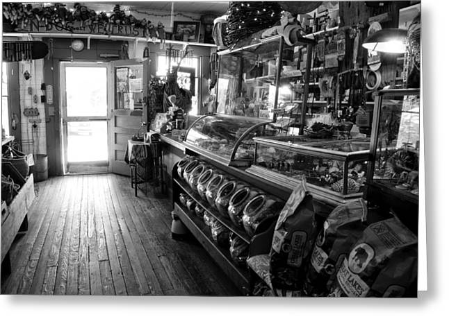 The Country Store Greeting Card by Jeanne Sheridan