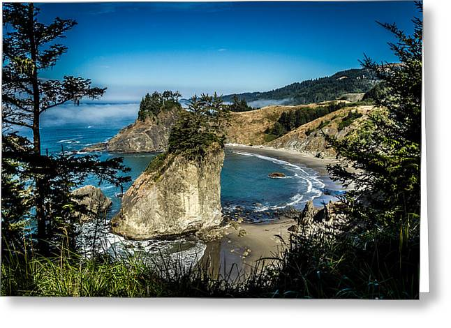 The Cove Greeting Card by Randy Wood