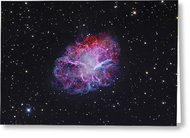 The Crab Nebula Greeting Card by Robert Gendler