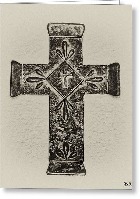 The Cross Greeting Card by Bill Cannon