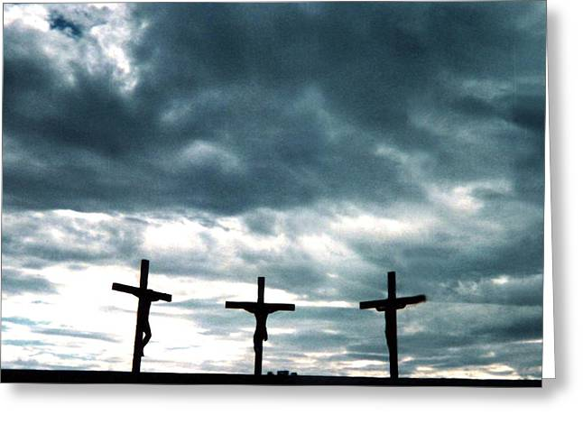 The Crosses At Groom Greeting Card by Ed Golden