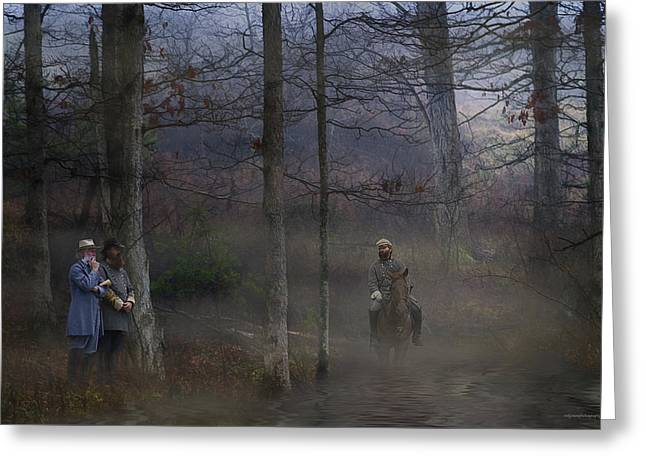 The Crossing Greeting Card by Ron Jones