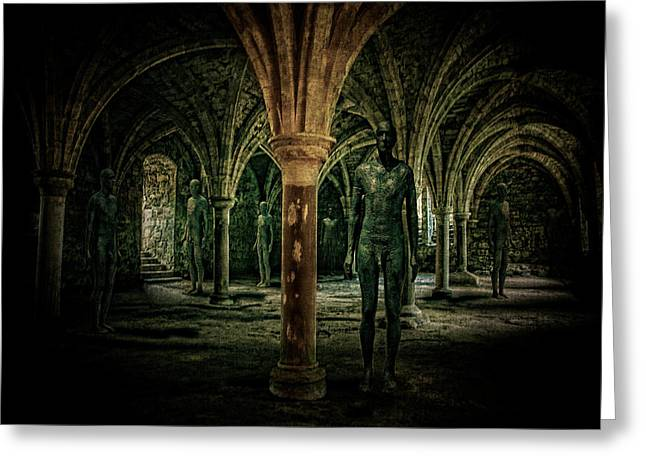 The Crypt Greeting Card by Chris Lord