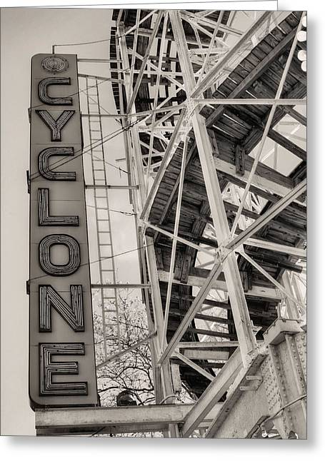 The Cyclone Greeting Card by JC Findley