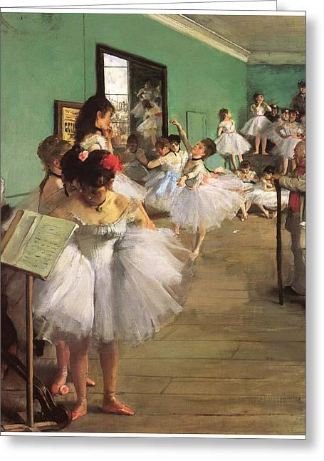 The Dance Class Greeting Card by Edgar Degas