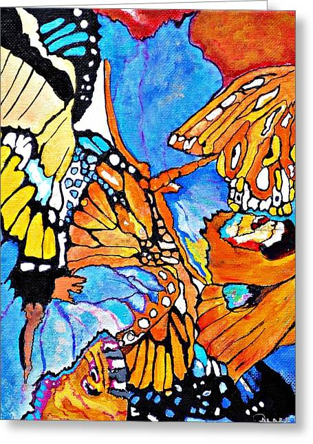The Dance Of The Butterflies Greeting Card