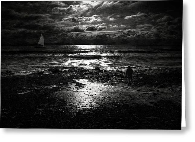 Greeting Card featuring the photograph The Dark Sea by Michele Cornelius
