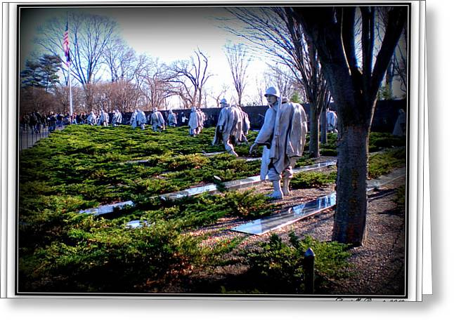Greeting Card featuring the photograph The Dc War Memorials Washington  D.c. by Danielle  Parent