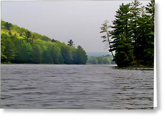 The Delaware River Greeting Card by Bill Cannon