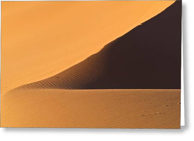 The Desert In Nambia, Africa Greeting Card by Keith Levit