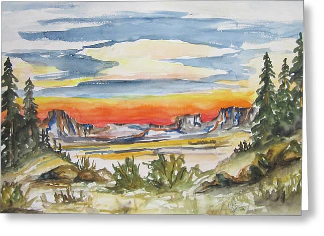 The Desert Long Forgotten-wcs Greeting Card by Cheryl Pettigrew
