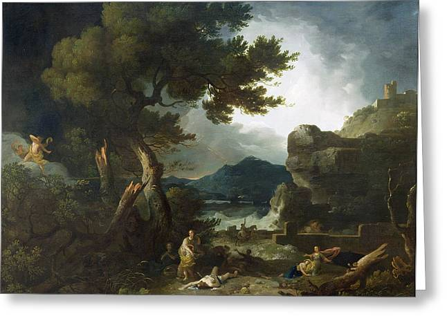 The Destruction Of Niobe's Children Greeting Card by Richard Wilson