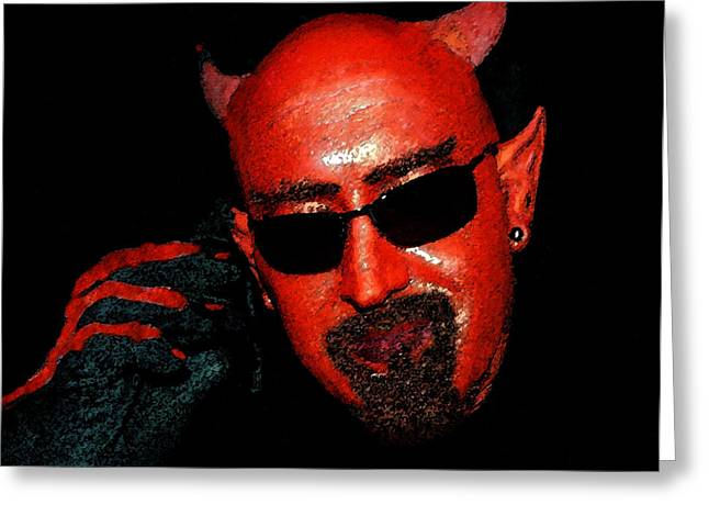 The Devil You Say Greeting Card by David Lee Thompson