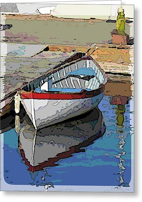 The Dinghy Greeting Card by Tim Allen