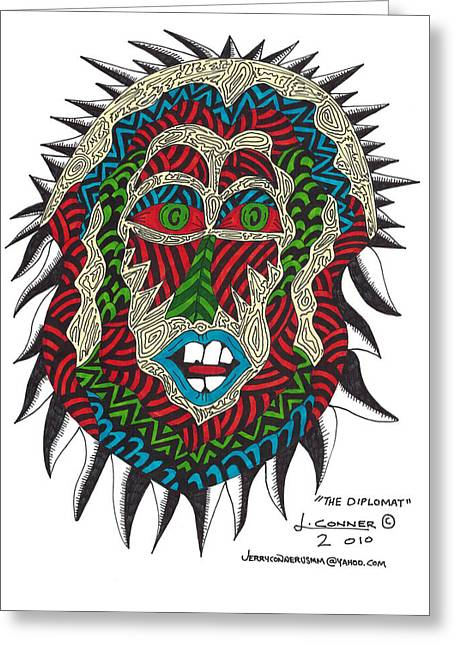 The Diplomat Greeting Card by Jerry Conner