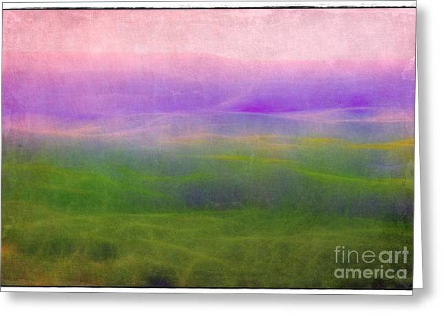 The Distant Hills Greeting Card by Judi Bagwell
