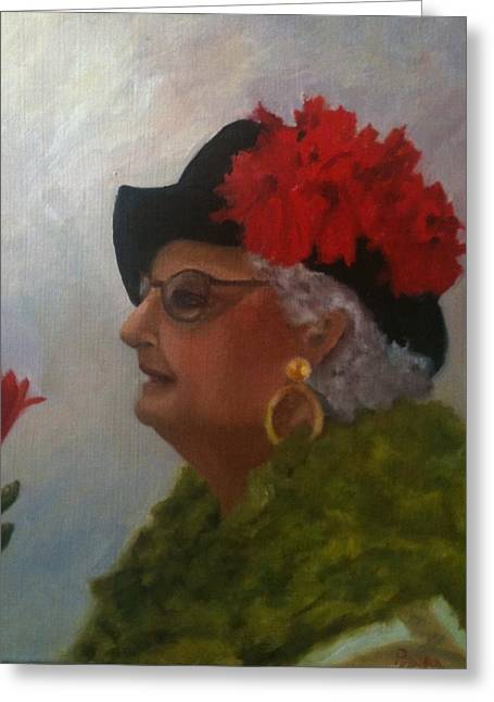 The Diva Greeting Card by Betty Pimm