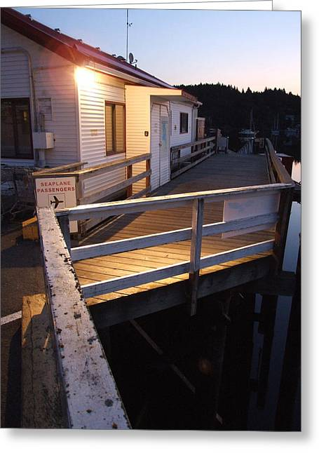 The Dock - Morning Greeting Card by Mark Alan Perry