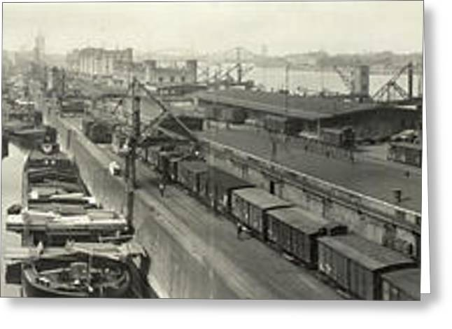 The Docks At Cologne - Germany - C. 1921 Greeting Card by International  Images