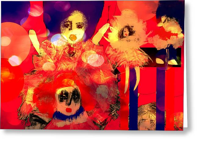 Greeting Card featuring the digital art The Dolls Are Out by Rc Rcd