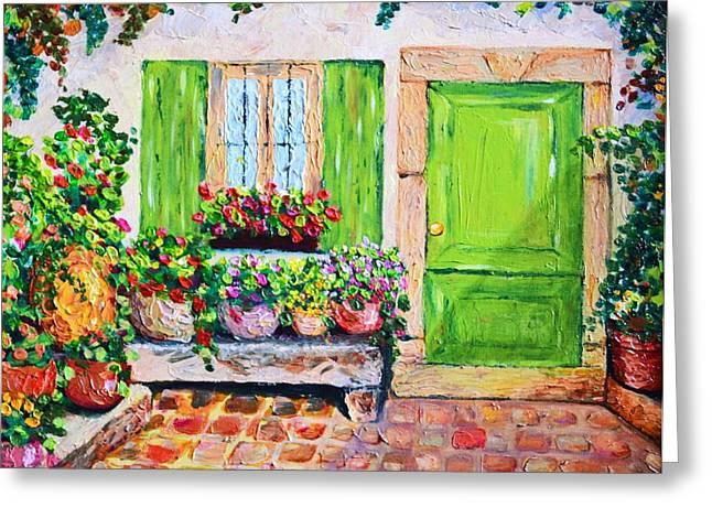 The Door Greeting Card by Cristina Gosserez