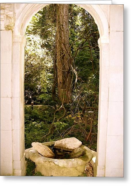 Greeting Card featuring the photograph The Doorway by Robin Regan
