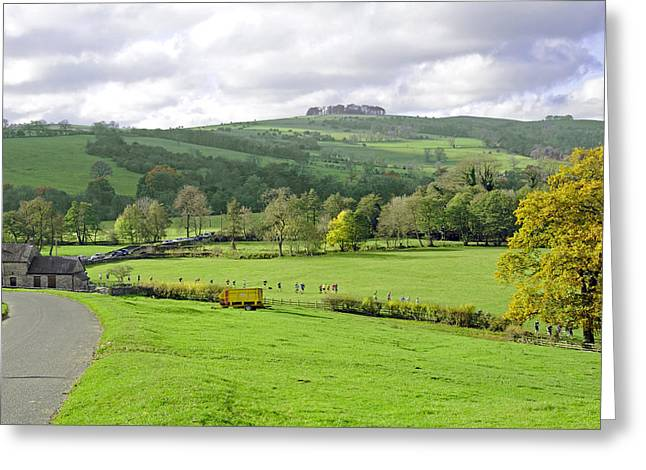 The Dovedale Dash By Thorpe Mill Farm Greeting Card by Rod Johnson