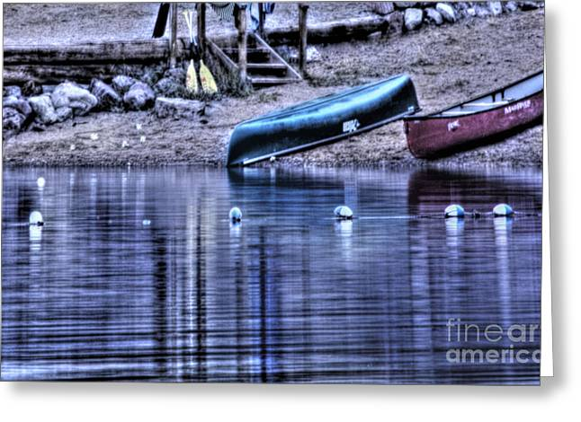 Greeting Card featuring the photograph The Dramatic Canoe Scene by Janie Johnson