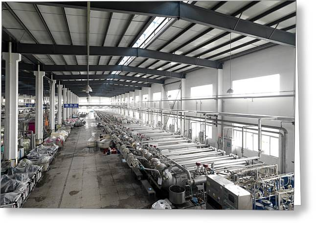 The Dyeing Area Of The New Wide Textile Greeting Card