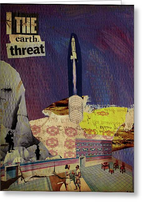 The Earth Threat Greeting Card by Adam Kissel