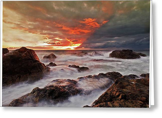 Greeting Card featuring the photograph The Edge Of The Storm by Beverly Cash