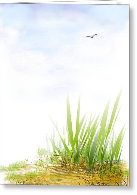 Greeting Card featuring the digital art The Edge by Wayne Pascall