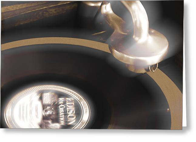 The Edison Record Player Greeting Card by Mike McGlothlen