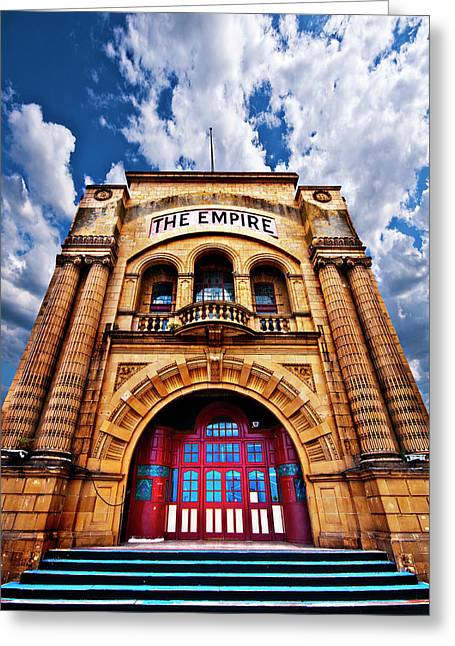 The Empire Theatre Greeting Card by Meirion Matthias