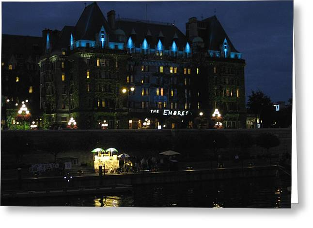 The Empress At Night Greeting Card by Kathy Long