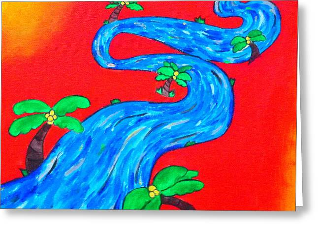 The Enchanting Stream Of Life Greeting Card by Evolve And Express
