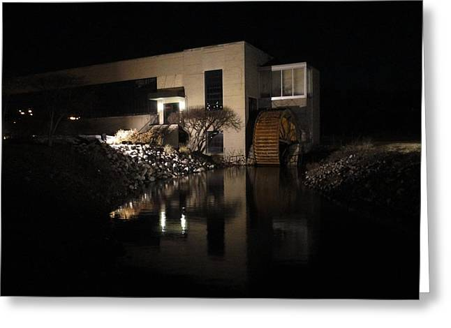 The End Of A Dark Stream Greeting Card by Guy Ricketts