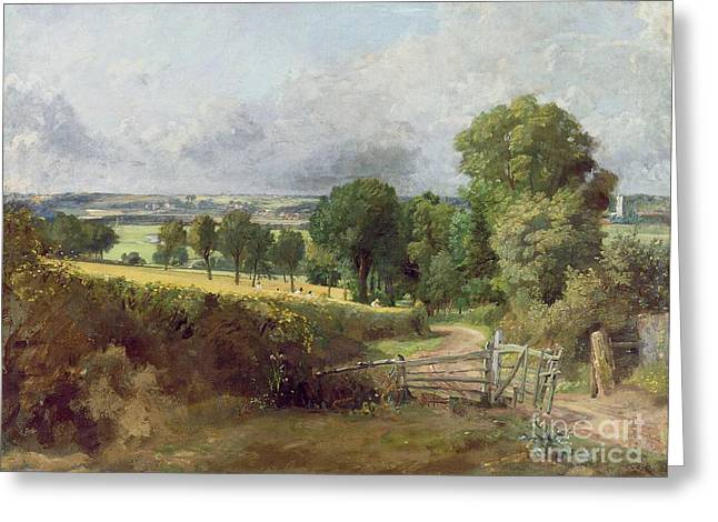 The Entrance To Fen Lane By Constable John Greeting Card