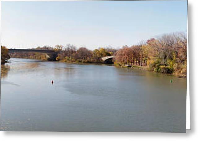 Greeting Card featuring the photograph The Erie Canal Crossing The Genesee River by William Norton