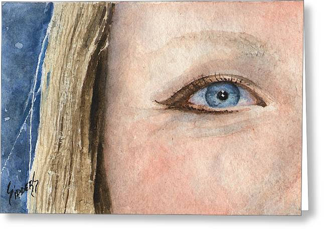 The Eyes Have It - Shannon Greeting Card by Sam Sidders