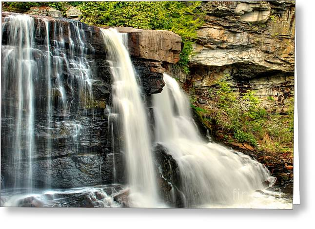 Greeting Card featuring the photograph The Face Of The Falls by Mark Dodd