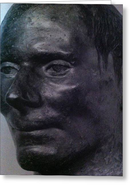 The Face Greeting Card by Paul Washington