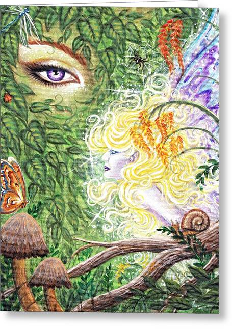 The Faerie World Greeting Card by Leon Atkinson