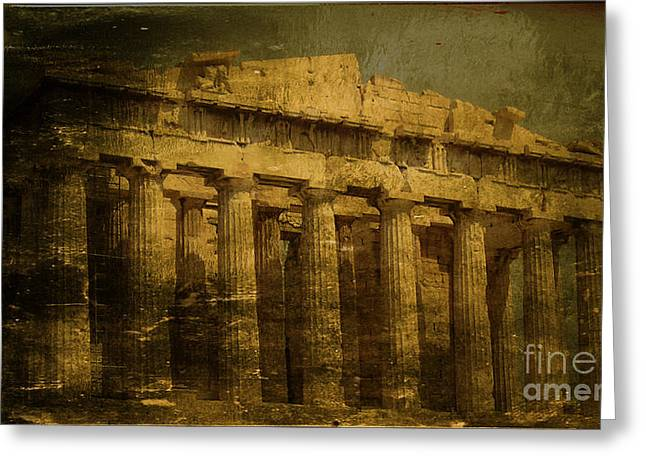 The Fall Of Athens Greeting Card