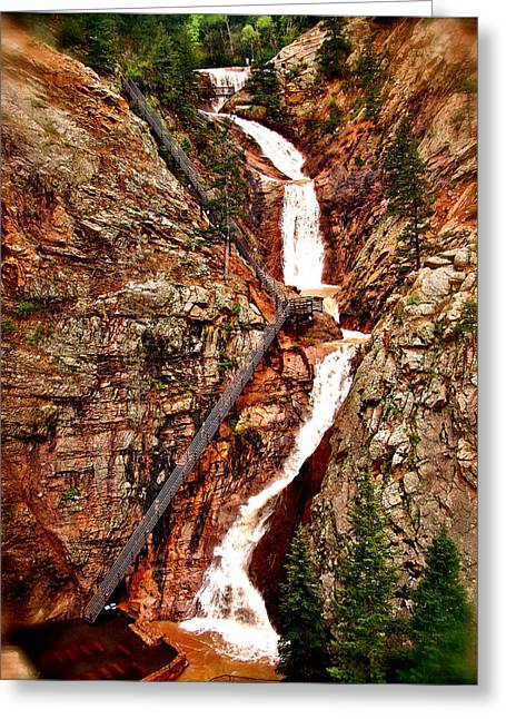 The Falls Greeting Card by Amber Hennessey