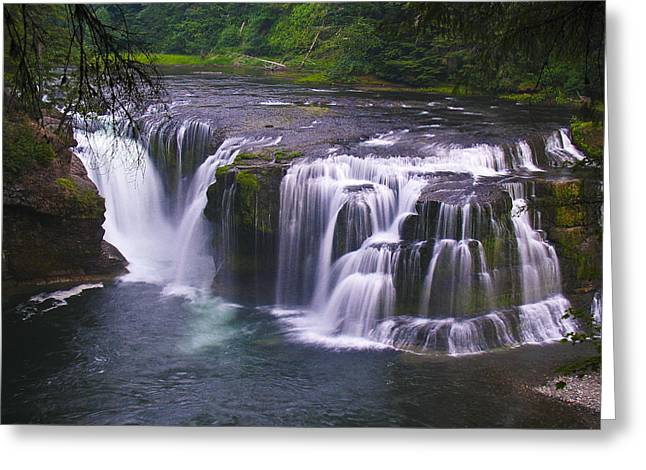 Greeting Card featuring the photograph The Falls by David Gleeson