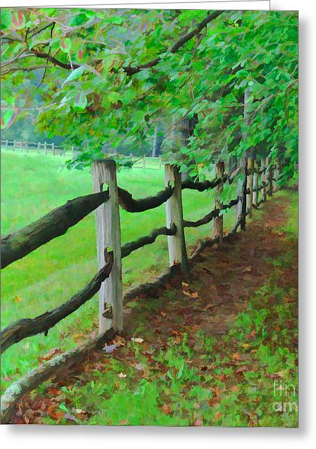The Fence Path Greeting Card