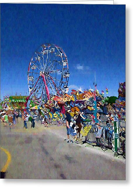 Greeting Card featuring the photograph The Ferris Wheel At The Fair by Mario Carini